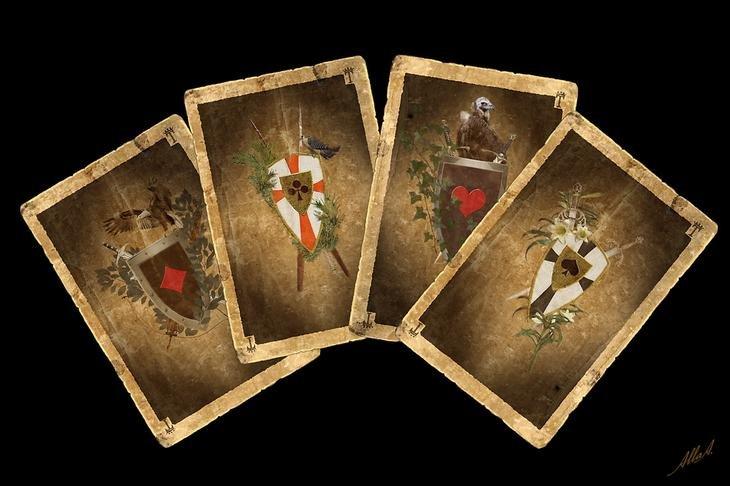 Старинная французская игра Экарте