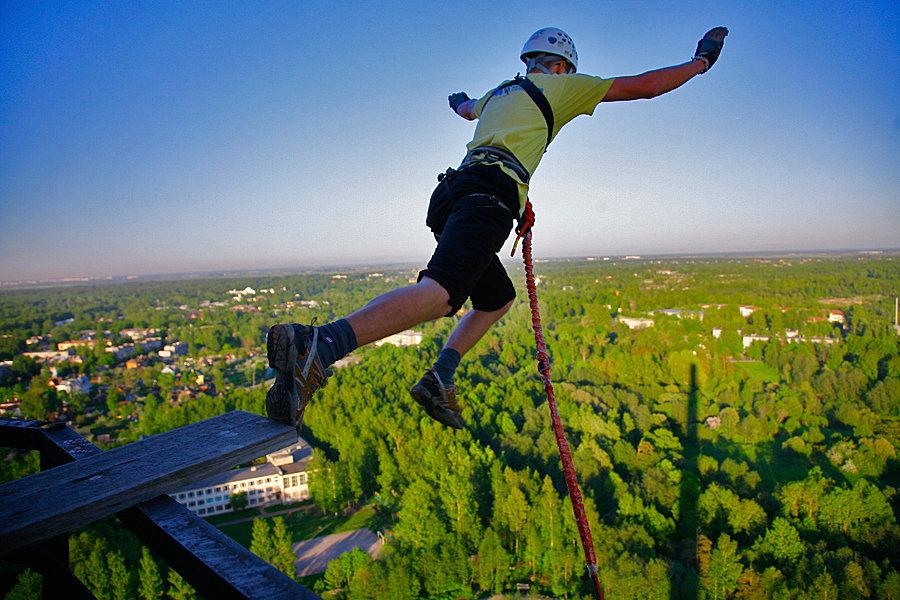 rope jumping прыжки с моста с резинкой